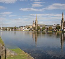 Inverness with Ducks by Sandy Sutherland
