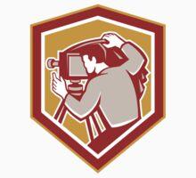 Vintage Film Camera Shield Retro T-Shirt