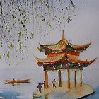 Hangzhou China near West Lake by Warren  Thompson