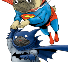 Super Pug & Bat Pug Sticker