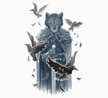 Wolf And Ravens by c0y0te7