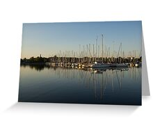 Reflecting on Yachts and Sailboats Greeting Card