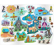 Tear-drop creations for children Poster