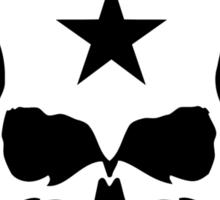 Biker Style Skull and Iron Cross Vinyl Sticker Sticker