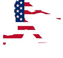 Baseball Batter American Flag by kwg2200