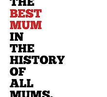 You're The Best... - Mother's Day Card by Grafficar