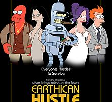 Earthican Hustle - parody movie poster A by lavalamp