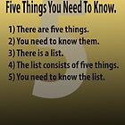 Five Things You Need To Know. by Paul Gitto