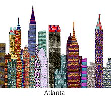 Atlanta city skyline by bri-b