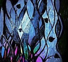 Twilit Stained Glass Plant by Natasha  Ashwe