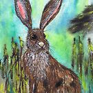 HARE IN GRASS by Hares & Critters