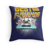 Best Friends - Back To The Future Throw Pillow
