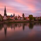 Sunset over Ulm by Constantin Fellermann