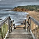 Stairway to Surfing Heaven, Bells Beach, Victoria by Adrian Paul