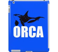 Orca (White Text) iPad Case/Skin
