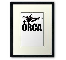 Orca (Black Text) Framed Print