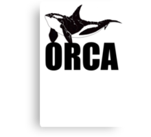 Orca (Black Text) Canvas Print