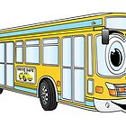Yellow City Bus Cartoon by Graphxpro