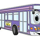 Purple City Bus Cartoon by Graphxpro