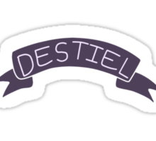 Destiel Ribbon Sticker Sticker