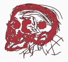 Scull Profile in Red by FineBrutality