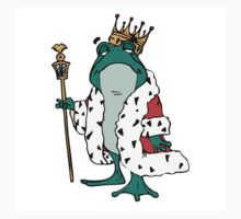 Robed frog prince cartoon design by artisticattitud