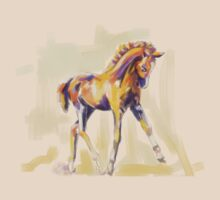 T-shirt foal grace and color by Go van Kampen
