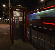 London Telephone Box and Bus by fbtaylor