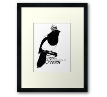 The Thieving Mapgpie Framed Print