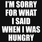 I am Sorry For What I Said When I Was Hungry by 4season