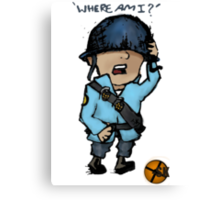 TF2 Soldier-Where Am I? Canvas Print