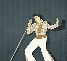 Elvis Presley Impersonator by Janet Carlson