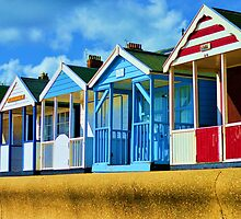 Beach huts by LemonMeringue