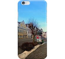 Pictoresque traditional village center | architectural photography iPhone Case/Skin