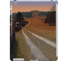 Scenery and a pathway into dawn   landscape photography iPad Case/Skin