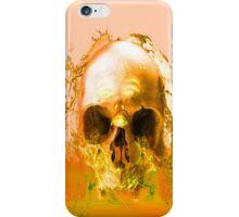 Golden Skull in Water iPhone Case/Skin