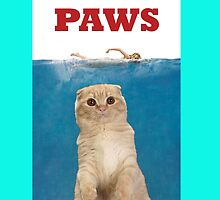 Paws (jaws) phone case by thecatsmeow