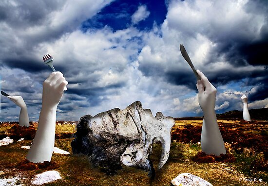 Porcelain Hunters by Andy  King Art