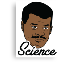 Black Science Man Canvas Print