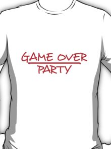 Game Over Party Comic Style T-Shirt