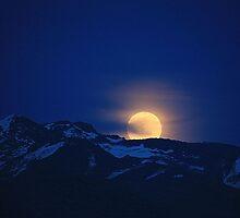4/14/14 Moon rise Winnemucca by DonActon