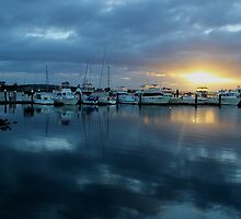 Sunrise at the Marina by JP-Photos