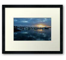 Sunrise at the Marina Framed Print