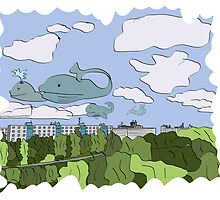 whales on the sky by ywanka