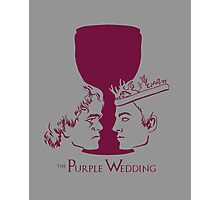 Purple Wedding Photographic Print