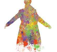 Sherlock Holmes Watercolour Splash by MYCROFTOFFICE