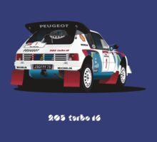 PEUGEOT 205 TURBO 16 RALLY CAR by tomasb94