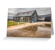 Boat House Reflection Greeting Card