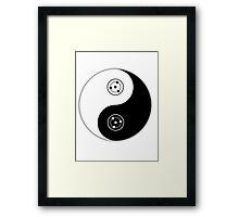 sharingan yin and yang Framed Print