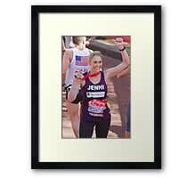 Jenni Faulkner with her London Marathon medal  Framed Print